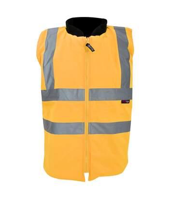 Warrior Mens Phoenix High Visibility Safety Bodywarmer Jacket (Fluorescent Orange) - UTPC271