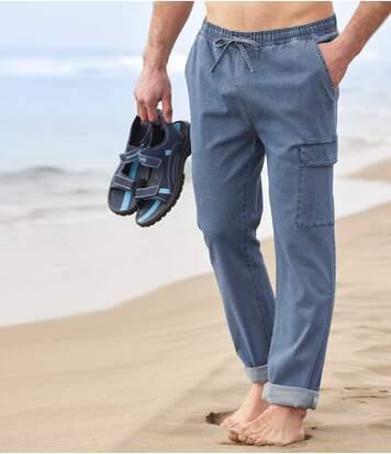 Wygodne jeansy-bojówki