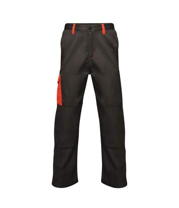 Regatta Mens Contrast Cargo Work Trousers (Black/ Classic Red) - UTRW6515