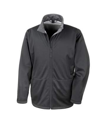 Result Core Mens Soft Shell 3 Layer Waterproof Jacket (Black) - UTBC904