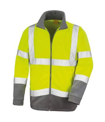 Result Core Mens Reflective Safety Micro Fleece Jacket (Pack of 2) (Yellow) - UTRW6884