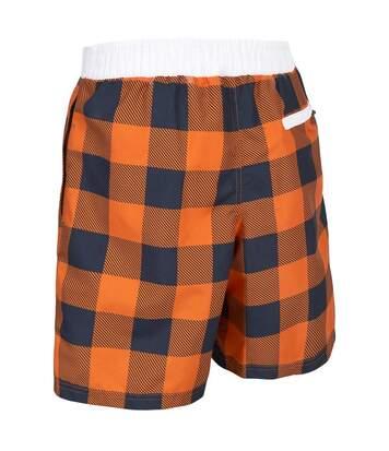 Trespass Mens Pacino Checkered Board Shorts (Sunrise Check) - UTTP2986