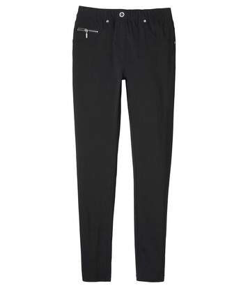 Women's Black Ultra-Comfortable Stretch Trousers