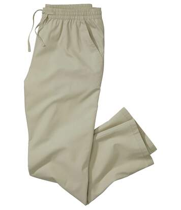 Men's Beige Summer Leisure Trousers