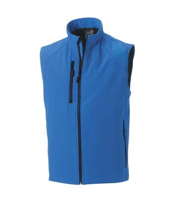 Russell Mens 3 Layer Soft Shell Gilet Jacket (Azure Blue) - UTBC1513