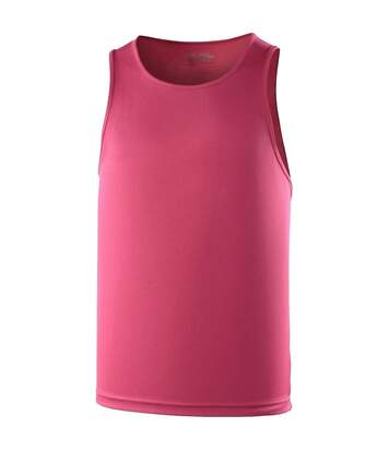 Just Cool Mens Sports Gym Plain Tank / Vest Top (Kelly Green) - UTRW687