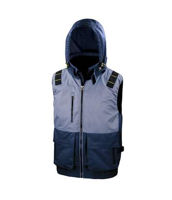 Result Work-Guard Mens X-Over Sleeveless Gilet (Navy/Grey) - UTRW5292