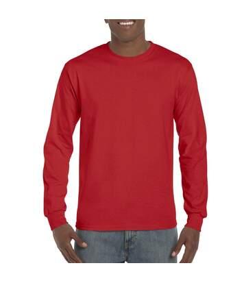 Gildan Mens Long Sleeve Hammer Shirt (Sport Scarlet Red) - UTBC4573