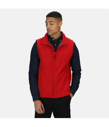 Regatta Mens Flux Softshell Bodywarmer / Sleeveless Jacket (Water Repellent & Wind Resistant) (Classic Red/ Seal Grey) - UTRW1213