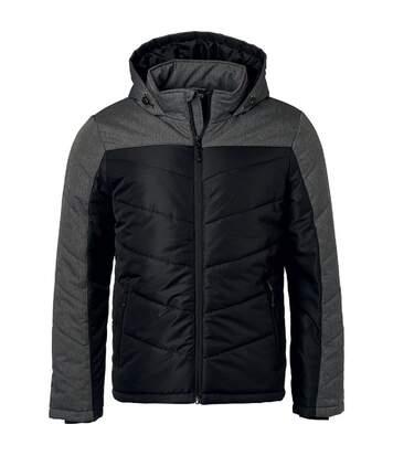 Veste matelassée à capuche - doudoune - JN1134 - noir - homme
