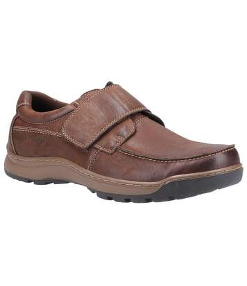 Hush Puppies Mens Casper Leather Shoes (Brown) - UTFS7397