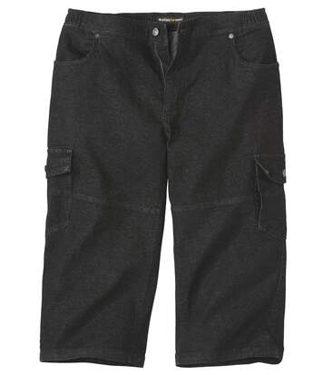 Pantacourt Cargo Jean Stretch Confort