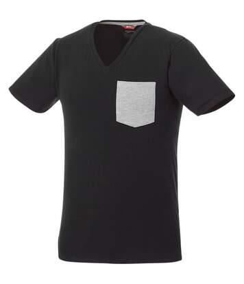 Slazenger Mens Gully Short Sleeve Pocket T-Shirt (Solid Black/Sport Grey) - UTPF2337