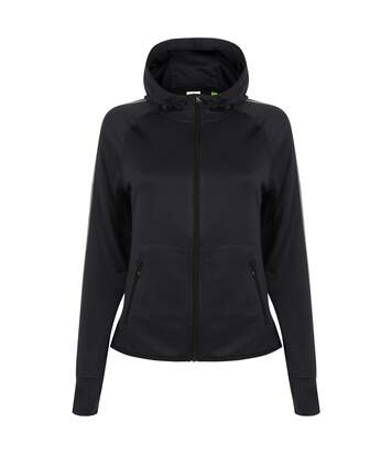 Tombo Teamsport Womens/Ladies Lightweight Running Hoodie With Reflective Tape (Navy) - UTRW4790