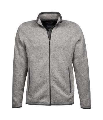 Tee Jays Mens Aspen Full Zip Jacket (Grey Melange) - UTBC3332