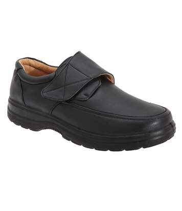 Smart Uns Mens Touch Fastening Casual Shoes (Black) - UTDF752