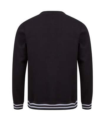 Front Row - Sweatshirt Rayure - Unisexe (Noir / gris) - UTPC3975