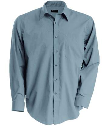 Chemise popeline manches longues - K545 - gris silver - homme