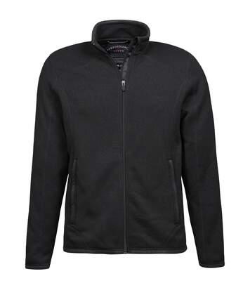 Tee Jays Mens Knitted Outdoor Fleece Jacket (Black) - UTPC3416