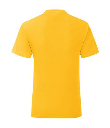 Fruit Of The Loom Mens Iconic T-Shirt (Pack Of 5) (Sunflower Yellow) - UTPC4369
