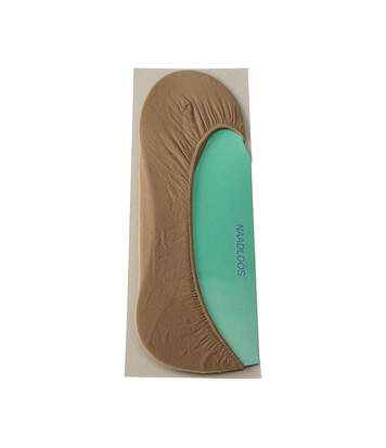 Bas protège pieds - 1 paire - Unis simple - Semi opaque - Satiné - Chair - Inter protect