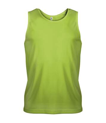 Kariban Proact Mens Sleeveless Sports Training Vest (Lime) - UTRW2719