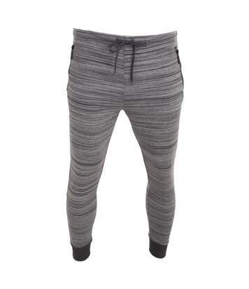 Brave Soul Mens Real Elasticated Jogging Bottoms (Charcoal/Ecru) - UTRW5347