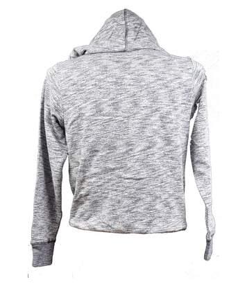 Sweat Homme FREEGUN en Coton Confort et Qualité Sweat Zippé avec Capuche Ba11 Gris chiné