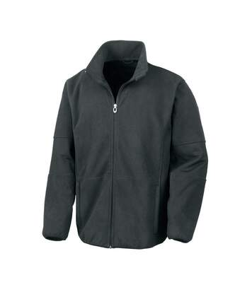 Result Mens Osaka TECH Performance Combined Pile Softshell Waterproof Windproof Jacket (Black) - UTBC867