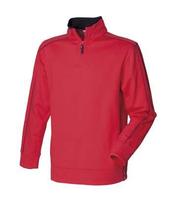 Front Row - Sweatshirt À Fermeture Zippée - Homme (Rouge/Bleu marine) - UTRW508