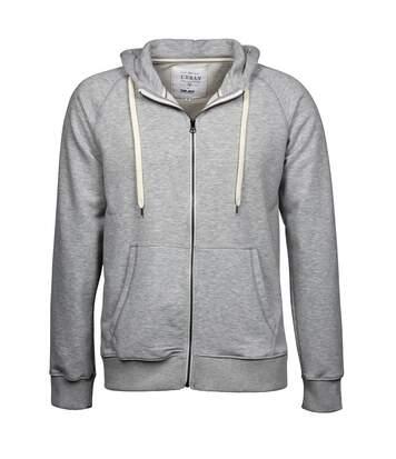 Tee Jays - Sweatshirt À Capuche Et Fermeture Zippée - Homme (Gris) - UTBC3315