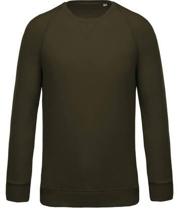 Sweat shirt coton bio - Homme - K480 - vert foncé