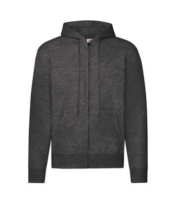 Fruit Of The Loom Mens Hooded Sweatshirt (Dark Heather) - UTBC1369