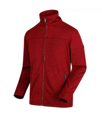 Regatta Mens Galton Heavyweight Knit Effect Fleece (Delhi Red) - UTRG4062