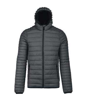Kariban Mens Lightweight Hooded Down Jacket (Marl Dark Grey) - UTPC2666