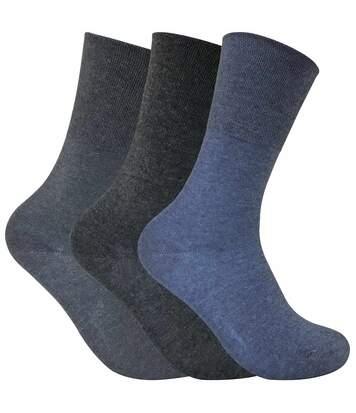 3 Pk Ladies Non Elastic Thermal Diabetic Socks