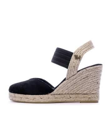Sandales à talon en daim noir femmes Tommy Hifliger
