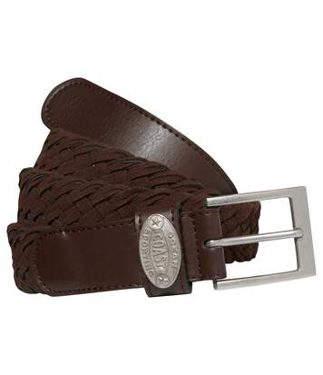 Men's Brown Woven Summer Belt