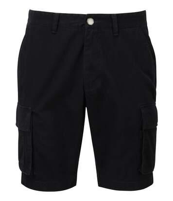 bermuda coton pour homme - AQ054 - noir