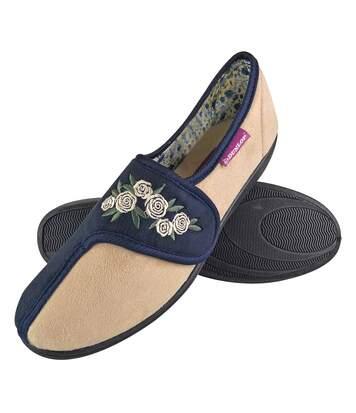 Dunlop - Ladies Warm Plush Mules Suede Slippers