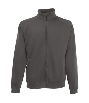 Fruit Of The Loom Mens Sweatshirt Jacket (Light Graphite) - UTBC1375