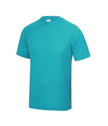 Just Cool Mens Performance Plain T-Shirt (Hawaiian Blue) - UTRW683