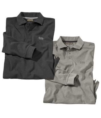 2er-Pack Poloshirts in Piqué-Qualität