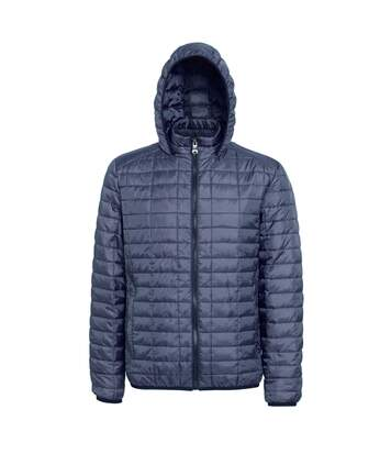 2786 Mens Honeycomb Padded Hooded Jacket (Black) - UTRW5018
