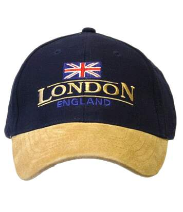 London England Baseball Cap Suede Cap with adjustable strap (As Shown) - UTC330