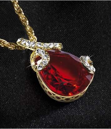 Die Halskette Kristalltropfen