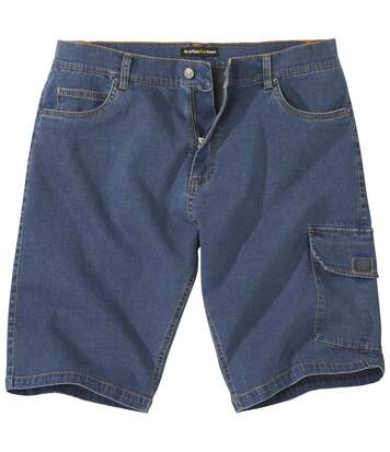 Men's Blue Denim Cargo Shorts