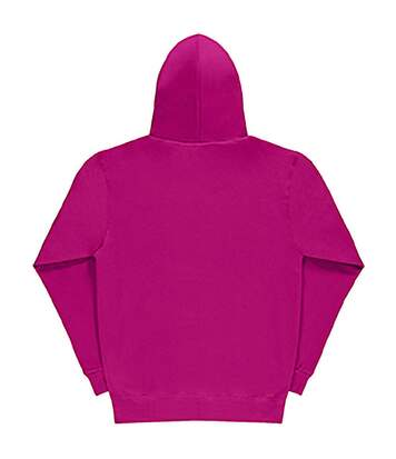 SG Mens Plain Hooded Sweatshirt Top / Hoodie (Dark Pink) - UTBC1072