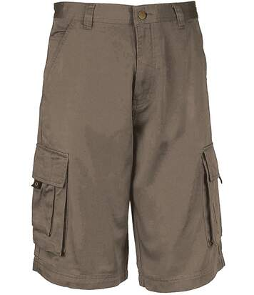 bermuda homme multipoches K777 - gris mastic