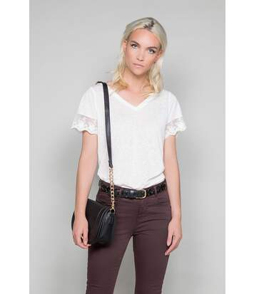 T-shirt avec dentelle DIVINE Off White